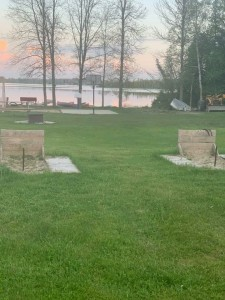 Two horseshoe pits available